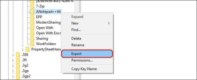 Export The Registry Key Before Deleting It