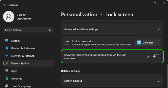 Disable Lock Screen Background Picture In Windows 11