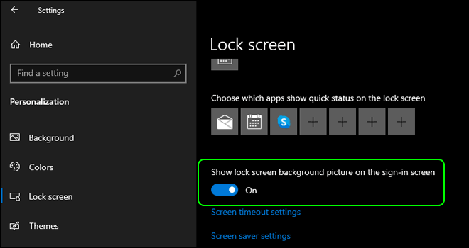 Enable Show Lock Screen Background Picture On Login Screen In Windows 10
