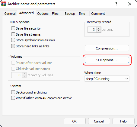 Go To Advanced Tab And Click Sfx Options
